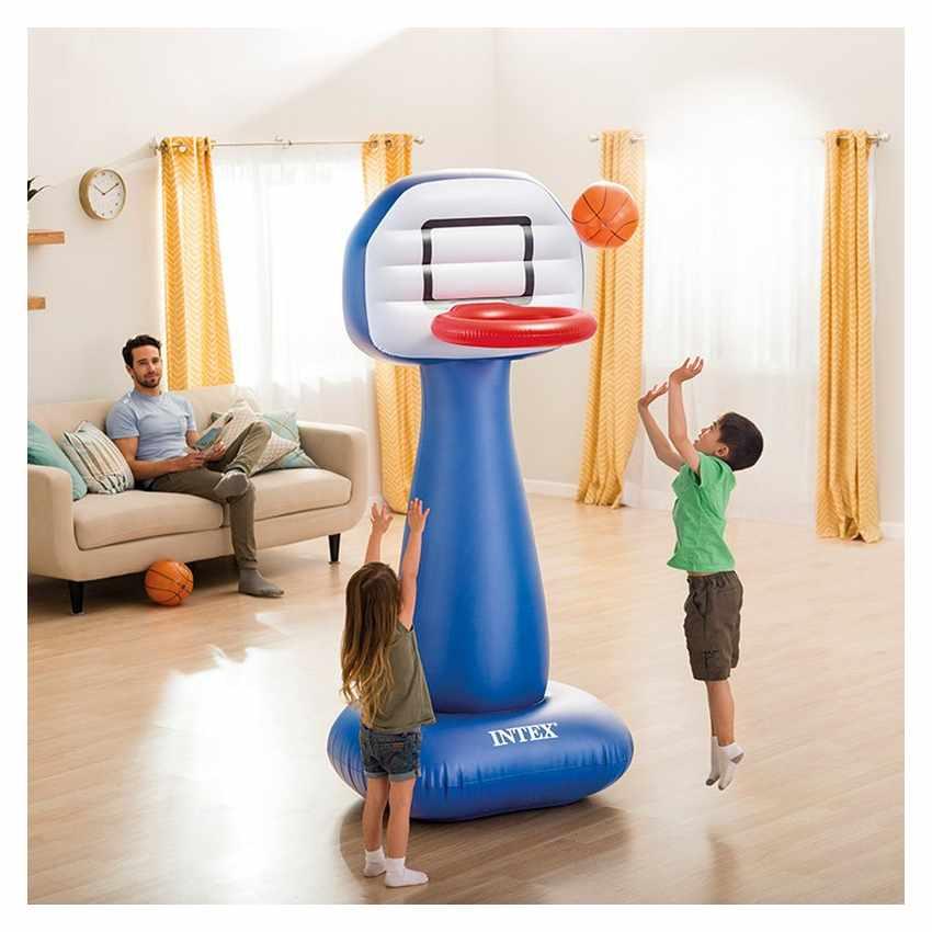 Intex 57502 Basketballkorb aufblasbar mit Ball für Haus und Garten SHOOTIN HOOPS