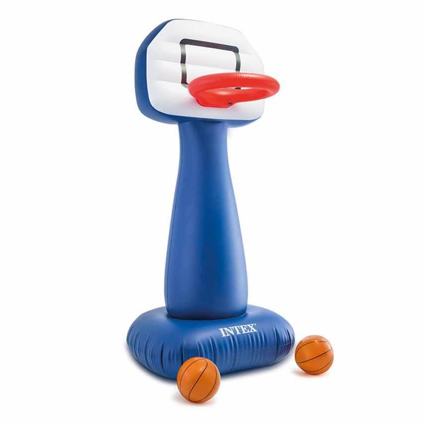 Intex 57502 Basketballkorb aufblasbar mit Ball für Haus und Garten SHOOTIN HOOPS Aufgeblasen
