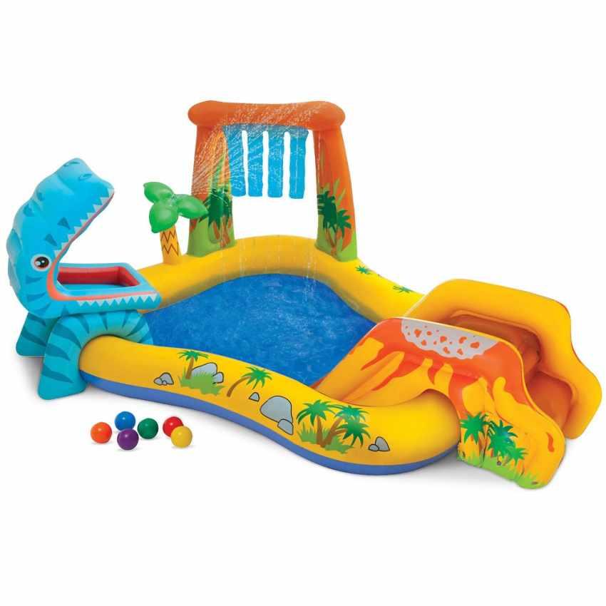 Intex 57444 Play Center Dinosaur Aufblasbarer Kinderpool