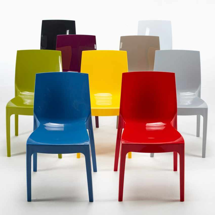 Sonderangebot 18 Stühle Polypropylen für Restaurant ICE Grand Soleil - migliore