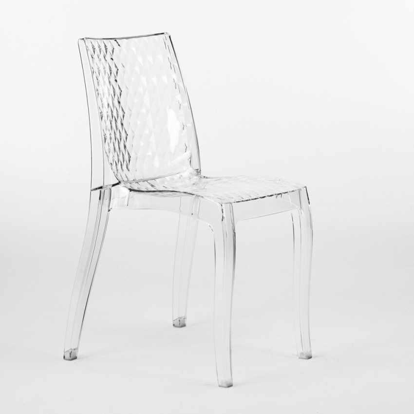 durchsichtiger polycarbonat stuhl stapelbar f r caf s. Black Bedroom Furniture Sets. Home Design Ideas