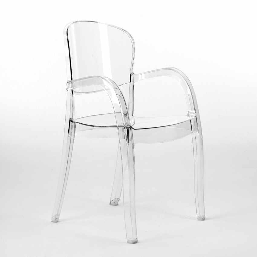 durchsichtiger polycarbonat stuhl stapelbar f r k che. Black Bedroom Furniture Sets. Home Design Ideas