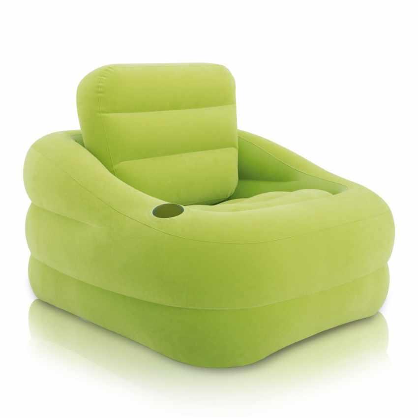 intex 68586 aufblasbarer luftsessel f r drau en im garten swimmingpool. Black Bedroom Furniture Sets. Home Design Ideas