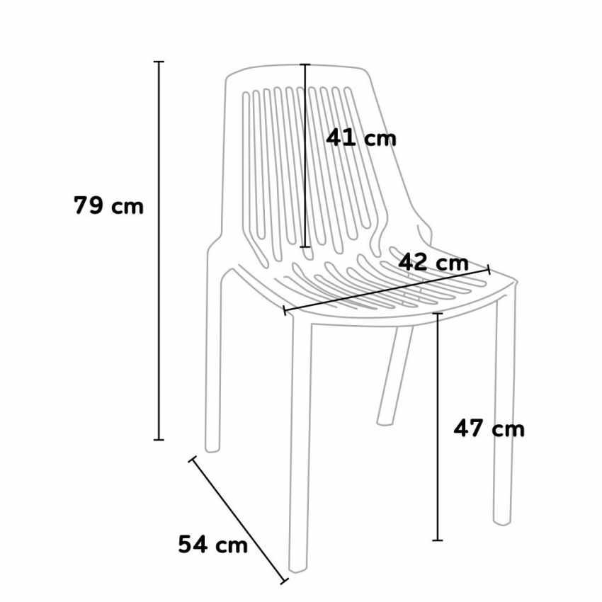 Set Stock 20 Stühle Indoor und Outdoor Restaurant und Bar LINE - foto