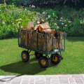 Gartenwagen für den Transport von Holz und Gras 400kg SHIRE - vendita