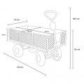 Gartenwagen für den Transport von Holz und Gras 400kg SHIRE - nuovo
