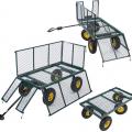 Gartenwagen für den Transport von Holz und Gras 400kg SHIRE - foto