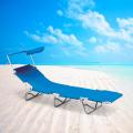 Sonnenliege Strandliege klappbar mit Sonnendach Aluminium VERONA LUX - offerta