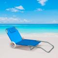 Sonnenliege Strandliege Stahl tragbar mit Rollen BANANA - dettaglio