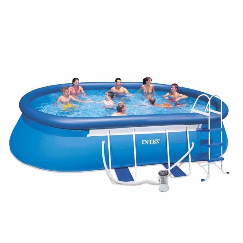 intex 26192 ex 28192 oval frame aufstellpool quick up pool 549x305x107. Black Bedroom Furniture Sets. Home Design Ideas