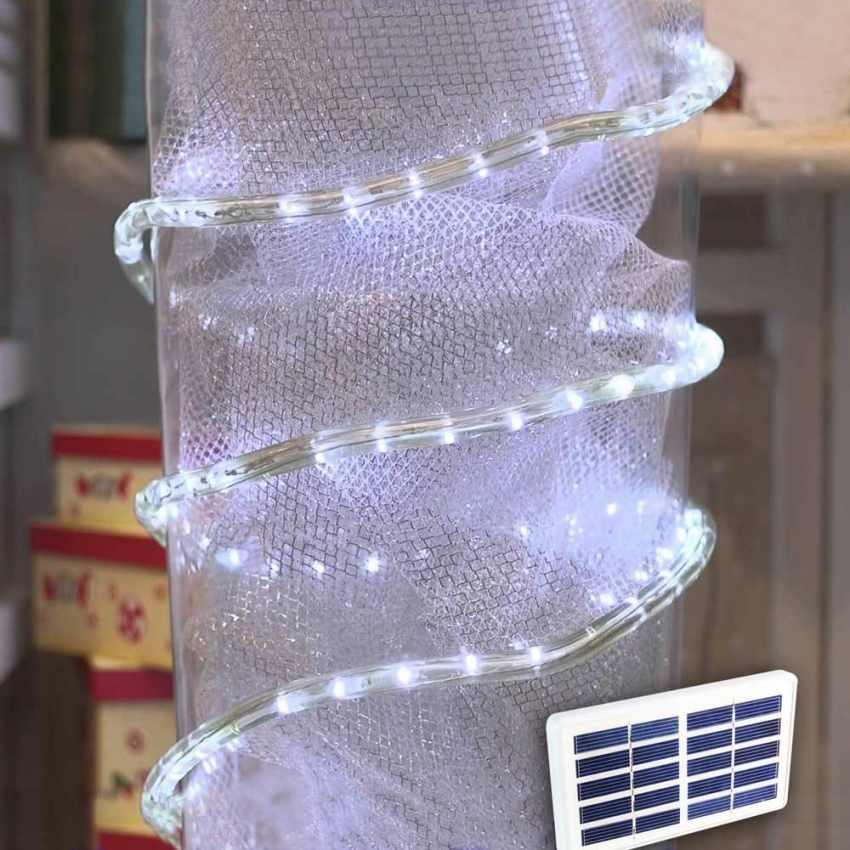 Solarmodul led lichtschlauch outdoor weihnachtsbeleuchtung for Produceshop it