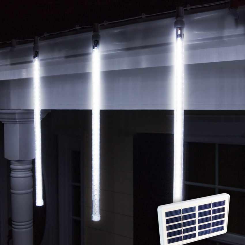 Solarmodul outdoor led weihnachtsbeleuchtung 4 eiszapfen longlife batterie - Weihnachtsbeleuchtung batterie ...