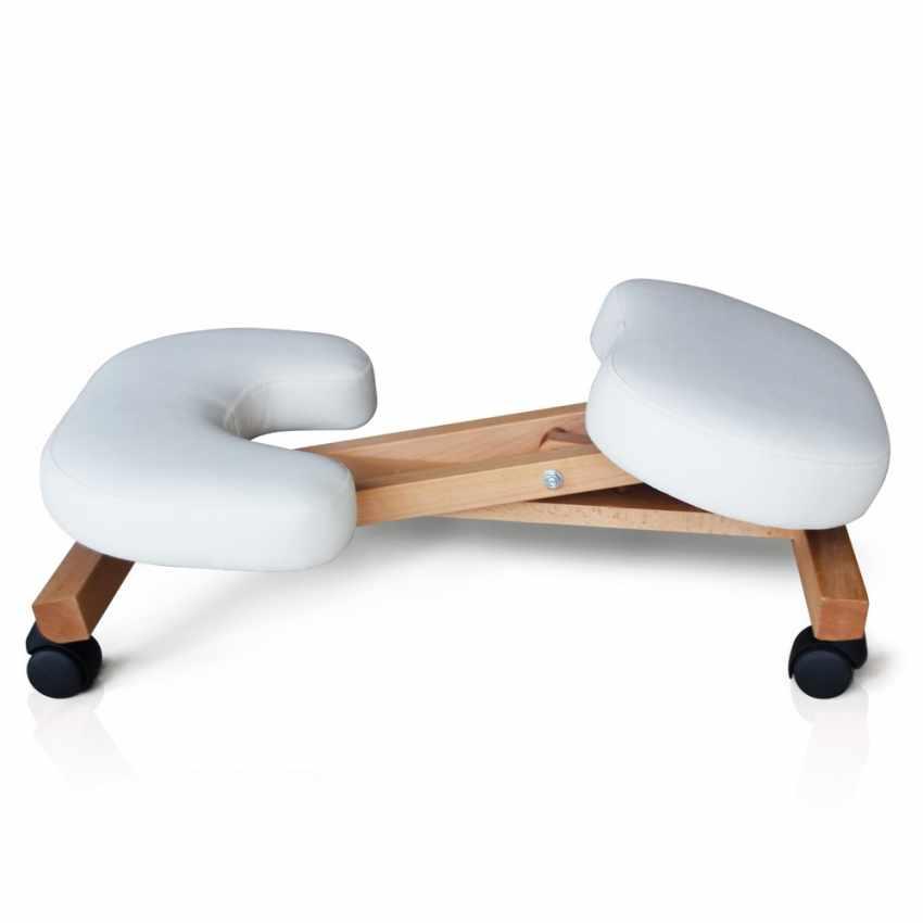 Orthop discher stuhl f r b ro holz hocker ergonomisch for Stuhl hocker