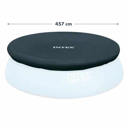 intex 28040 universelle abdeckplane f r runde gro e aufstellpools deluxe 488 cm. Black Bedroom Furniture Sets. Home Design Ideas