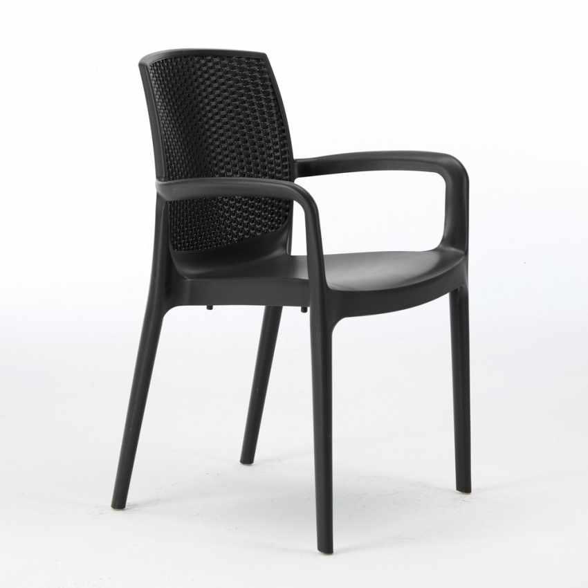 polyrattan stuhl stapelbar mit armlehne f r caf restaurant boheme grand soleil. Black Bedroom Furniture Sets. Home Design Ideas