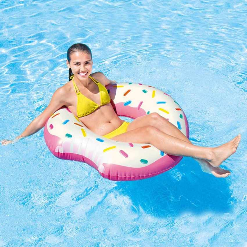 intex 56265 donut tube aufblasbare matratze f r den pool. Black Bedroom Furniture Sets. Home Design Ideas