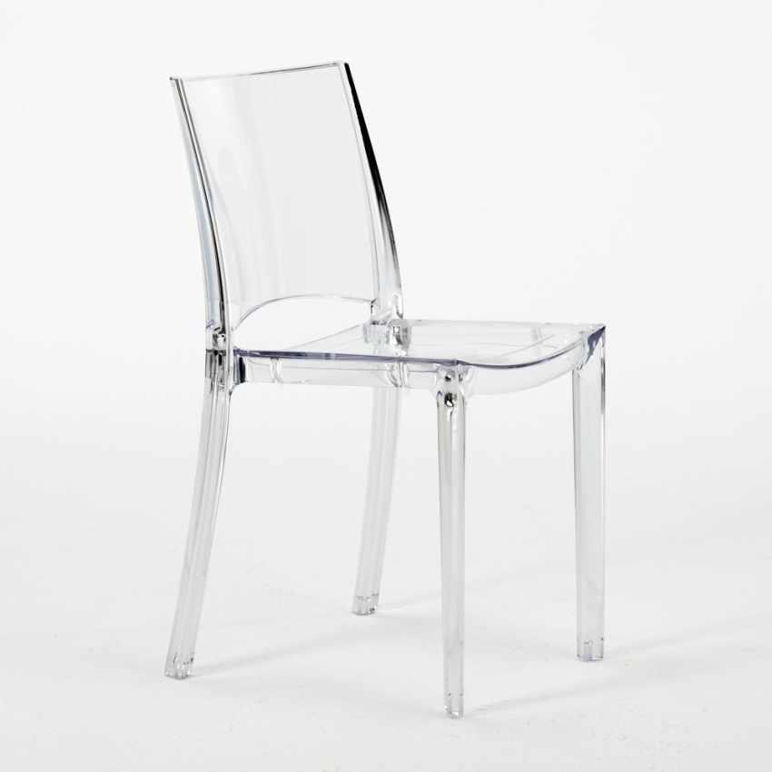 durchsichtige stapelbare polycarbonat st hle f r k che caf und restaurant grand soleil b side. Black Bedroom Furniture Sets. Home Design Ideas