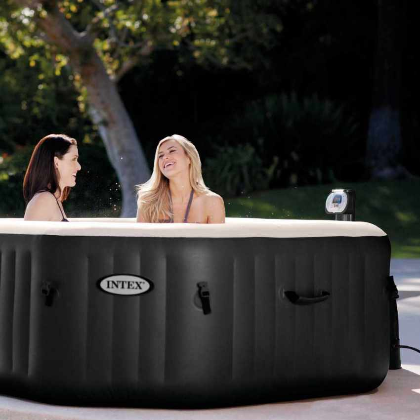 intex 28456 whirlpool pure spa octagon bubble jet und salzwassersystem becken 218x71. Black Bedroom Furniture Sets. Home Design Ideas