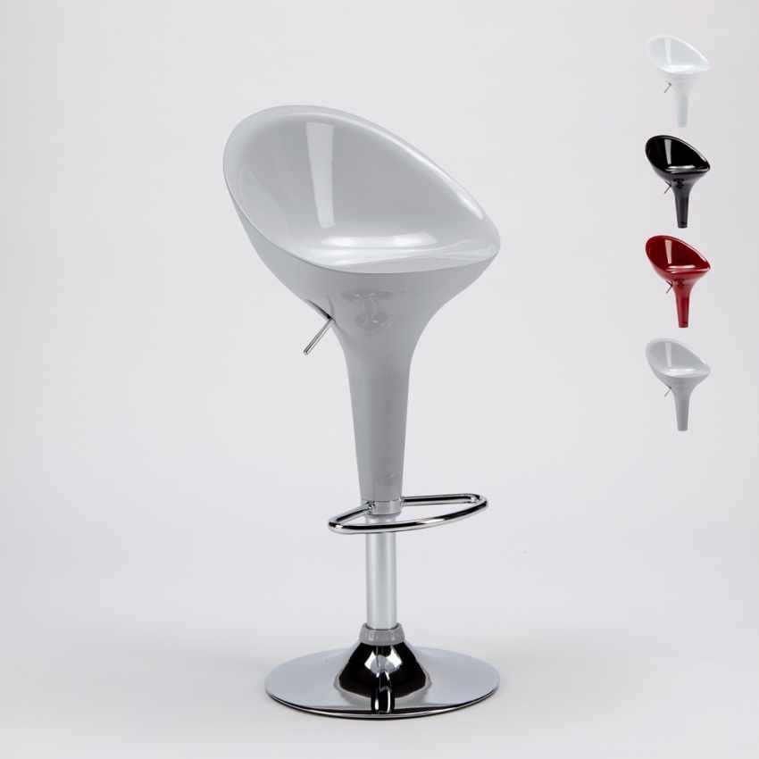 barhocker barstuhl f r caf und k che mit halbinsel verchromt drehbar san diego. Black Bedroom Furniture Sets. Home Design Ideas