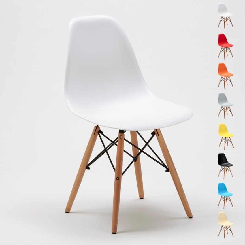 Hervorragend SD638PP   Designer Stuhl Aus Polypropylen Und Holz Für Küche Café  Wartezimmer Und Büro DSW WOODEN ...