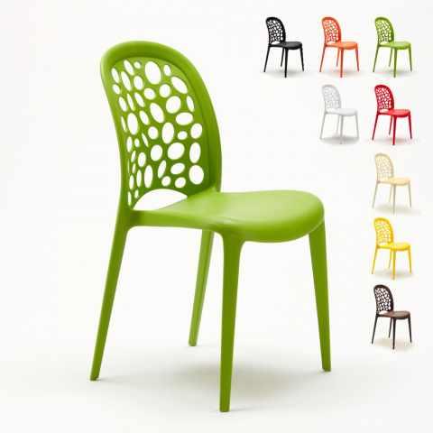 Durchsichtiger Polycarbonat Stuhl für Café und Küche Soleil GRUVYER ...