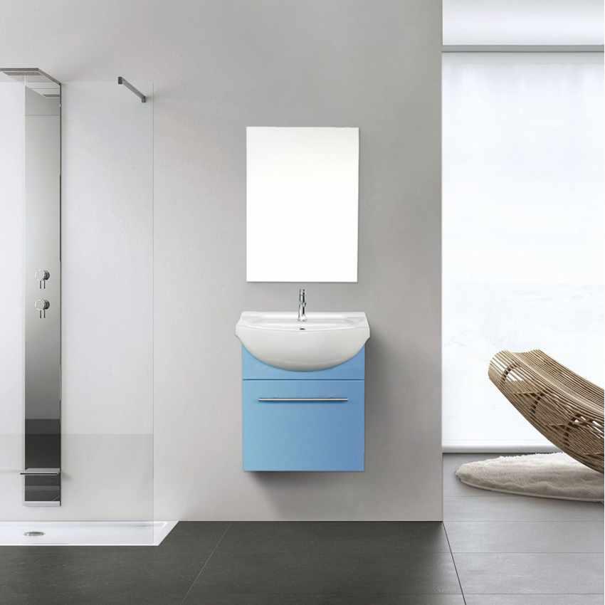 komplettes set badeseinrichtung mit spiegel waschbecken schrank aus lackierte keramik. Black Bedroom Furniture Sets. Home Design Ideas
