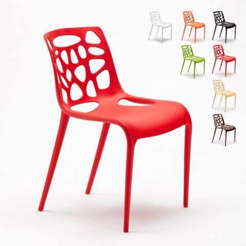 SG613PP   Stuhl Aus Polypropylen UV Schutz Im Modernen Design Für Eisdiele  Küche Und Café Gelateria