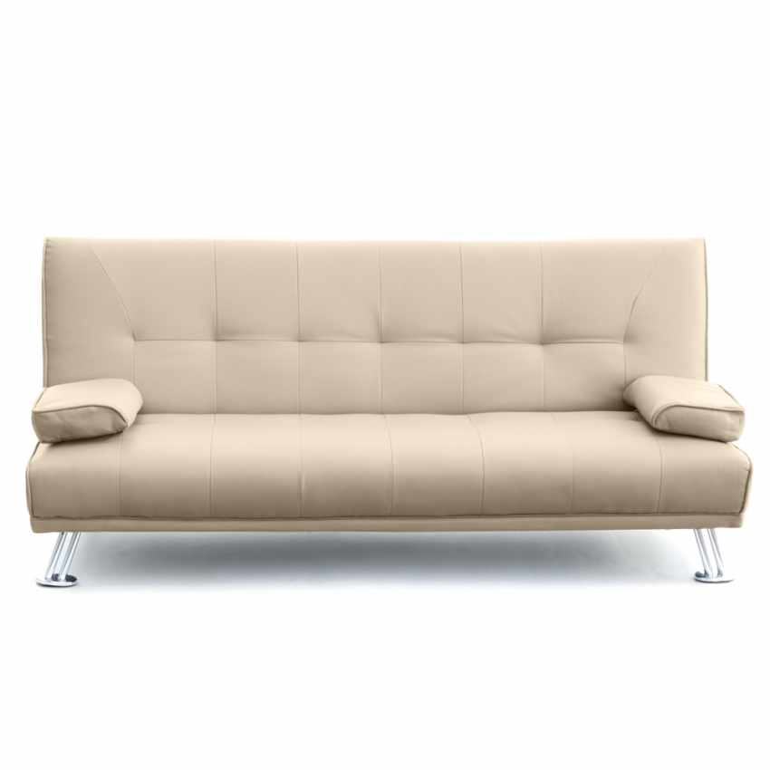 schlafsofa sofabett couch klappsofa kunstleder 2 sitzer olivina. Black Bedroom Furniture Sets. Home Design Ideas