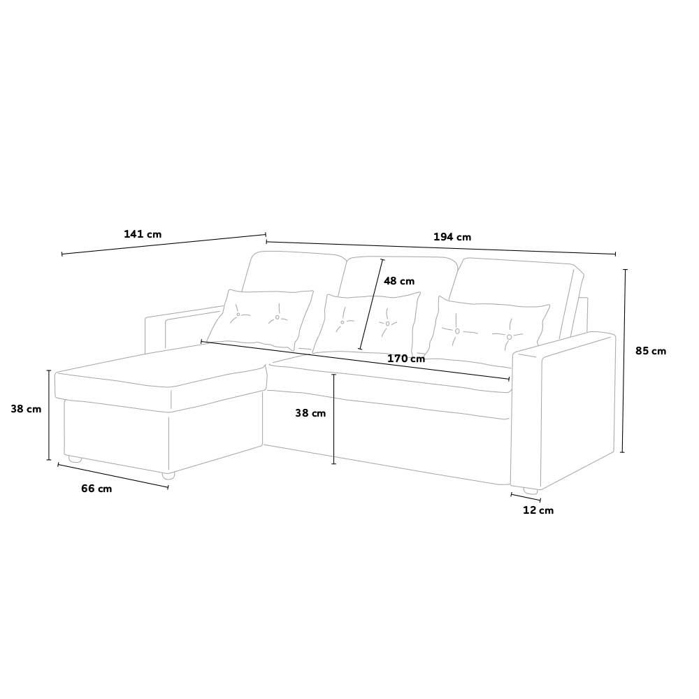 Smeraldo 3-Sitzer-Sofa-Bett